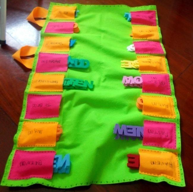 kit-para-aprender-ingles-fun-teacher-mala-verde-aberta