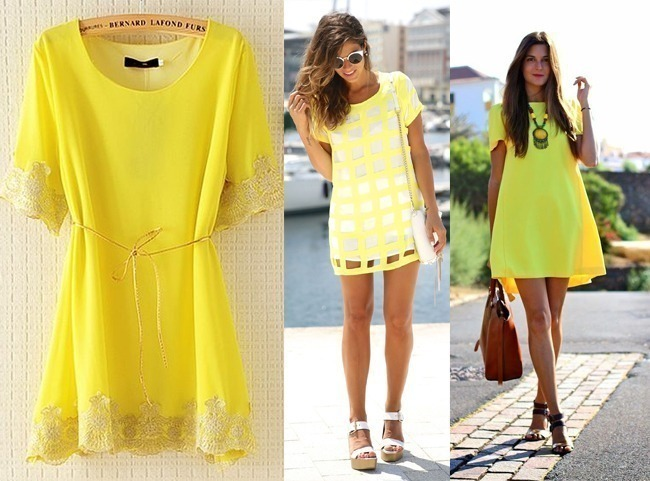como-usar-mini-vestido-amarelo