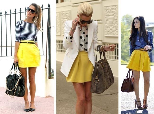 como-usar-minissaia-amarela