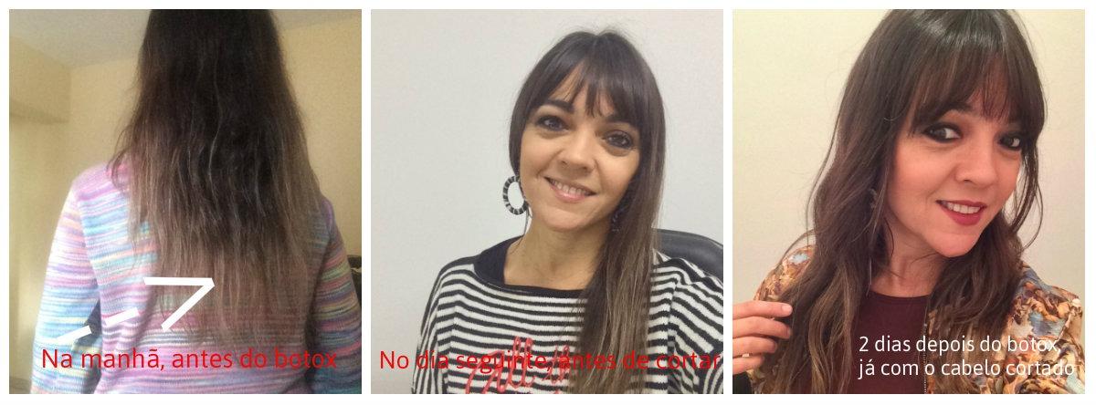 Antes e Depois do uso do Botox Capilar New BTX Platimum